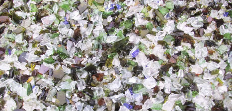 recycled broken glass color sorter