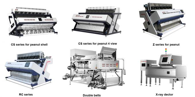 sorting accuracy 99.95%,0.7-1.1kw,peanut optical sorter,peanut color sorting machine