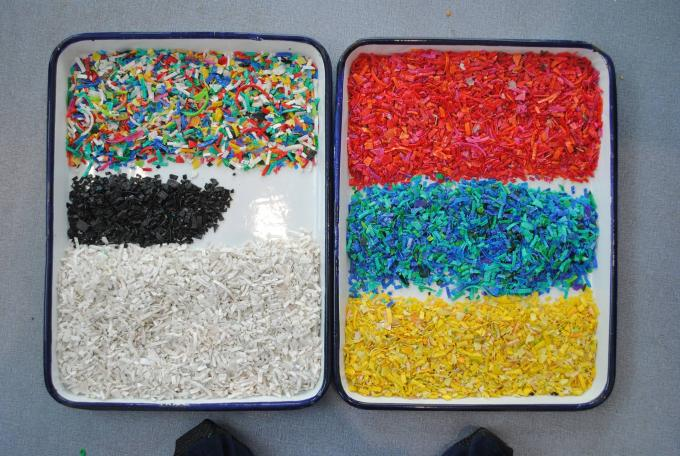 plastic flake color sorting machine