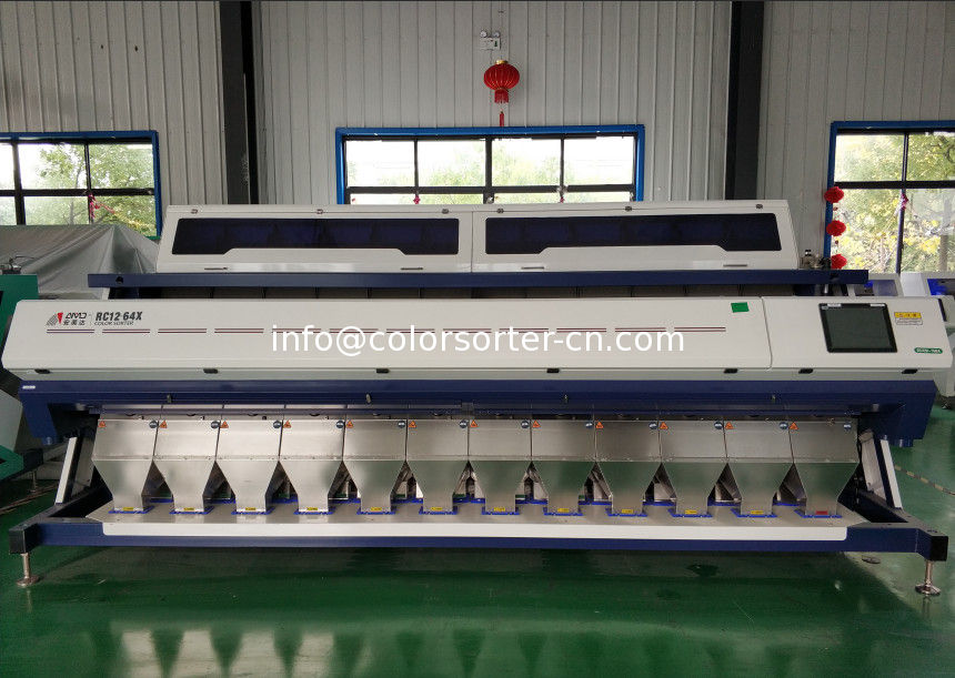 rice colour sorter machine with LED light and CCD camera