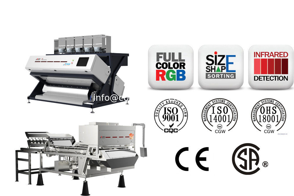 Optical Sorting Machine With IR Camera,Full Color ,Shape And IR Sorter